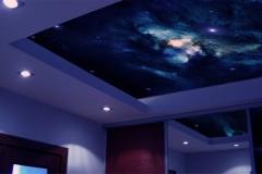 """Натяжной потолок """"Звездное небо"""""""