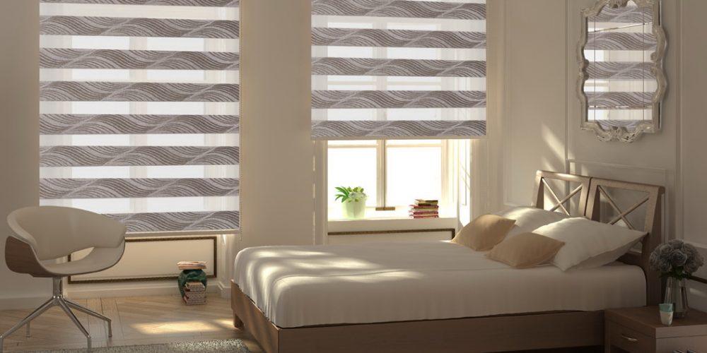 Рулонные шторы День-Ночь из турецкой ткани Jakar 004