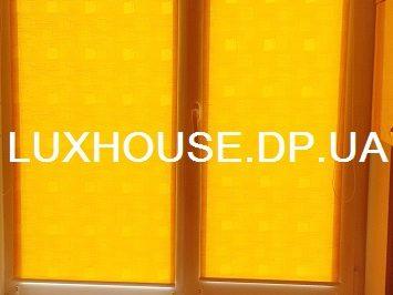 Рулонные шторы открытая система Мини с тканью Топаз оранжевый